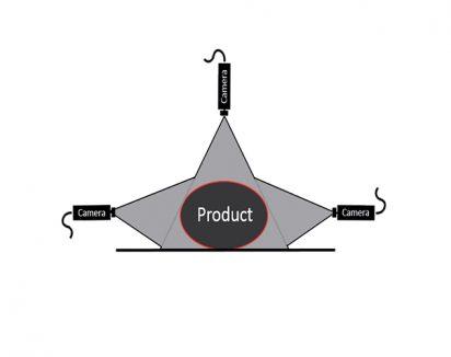Numérisation des produits ronds avec 3 caméras placées à 120° pour un scan à 360° et 1 précision max.