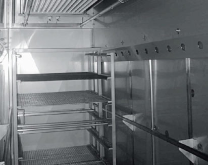 Batterie froide inox centrale