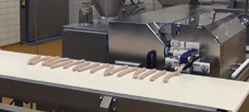 Vidéo ligne de production de saucisses
