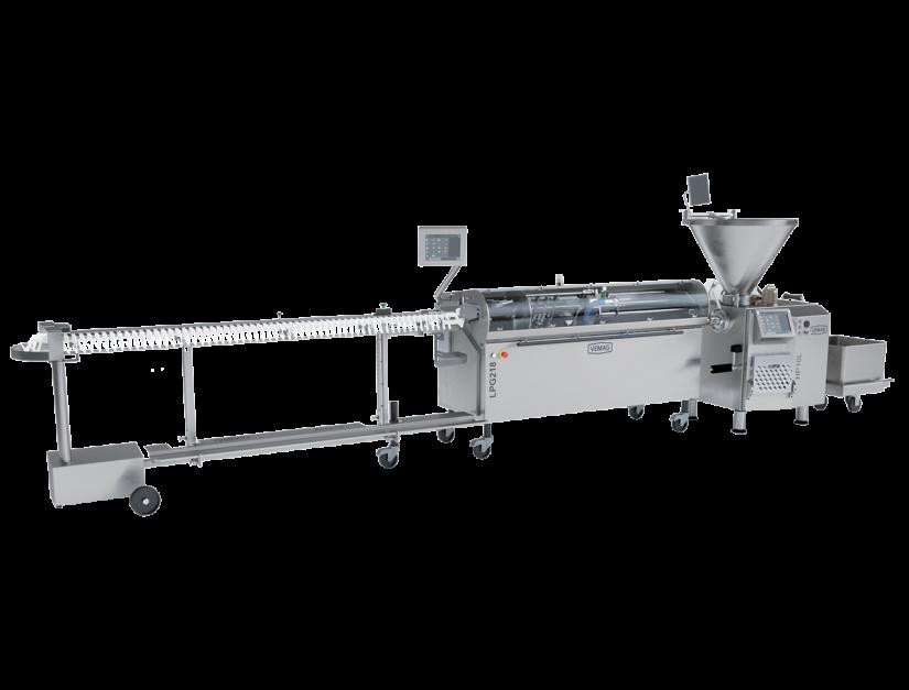 Ligne de production pour saucisses en boyaux artificiels